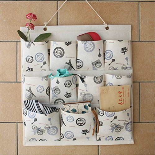 SNW Hanging organizer Over the Door 11 Pockets Organizer Wall Door Closet Hanging Storage Bag Organizer Multilayer Linen Fabric Pouch Debris Storage Multifunctional Room Bedroom Bath Organizer Anti-mold / Anti-bacterial Space Saver Gift H*W: 20.5*17.7 Inches Hanging organizer-Shopping New World http://www.amazon.com/dp/B011OES87M/ref=cm_sw_r_pi_dp_3J-5wb073V5ZQ