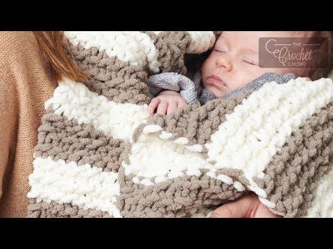 Knit Baby Blanket for Beginners - YouTube   Crochet Patterns   Baby