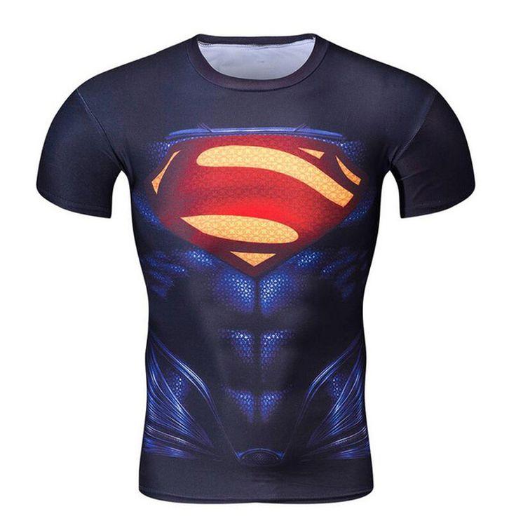 >> Click to Buy << Batman VS Superman T Shirt Tee 3D Printed T-shirts Women Men Short Raglan Fitness Cosplay Costume Slim Fit Compression Top Male #Affiliate
