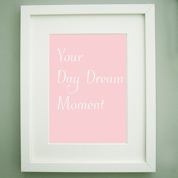 Your Day Dream Moment Art Print  Pink by MollyMargaretDesigns