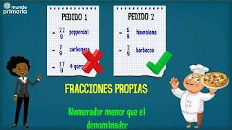 (1) Las fracciones: propias, impropias y mixtas Mundo Primaria - YouTube