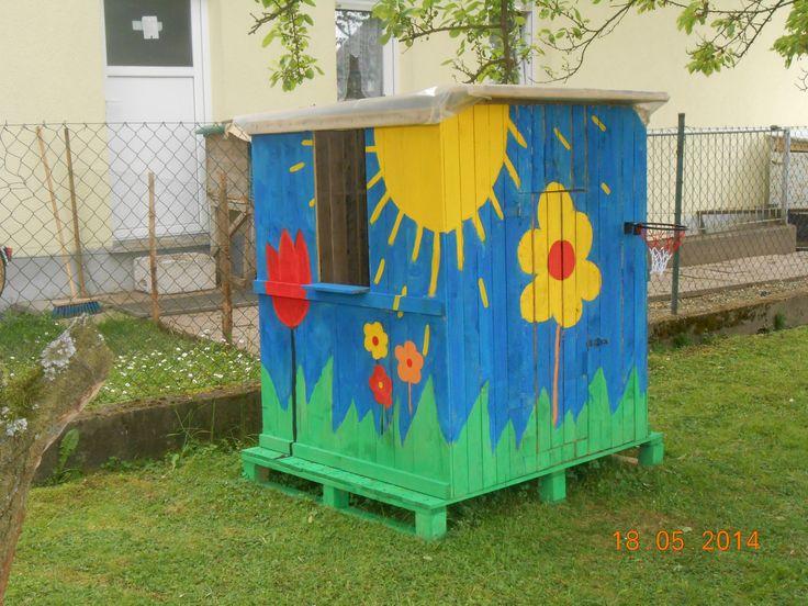Awesome Spielhaus f r Kinder oder Recyceln von Paletten Bauanleitung
