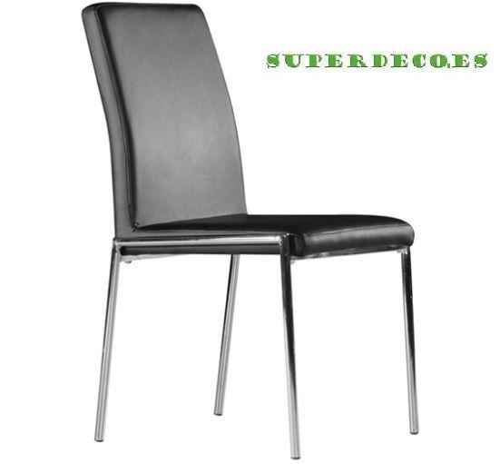 #sillas #comedor #tapizadas #diseno #cromadas www.superdeco.es