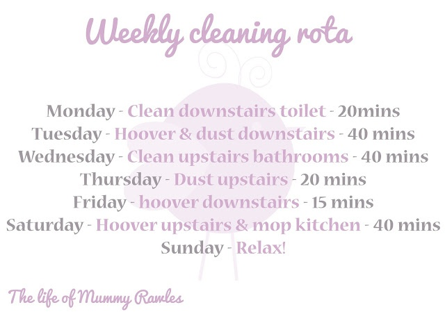 My cleaning rota