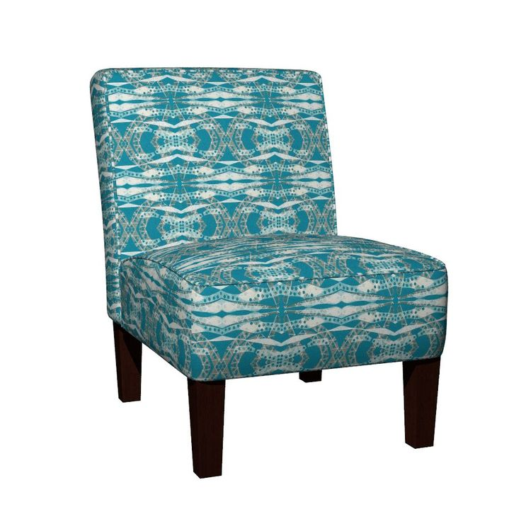 Maran Slipper Chair featuring Turquoise Collage Waves by joancaronil | Roostery Home Decor