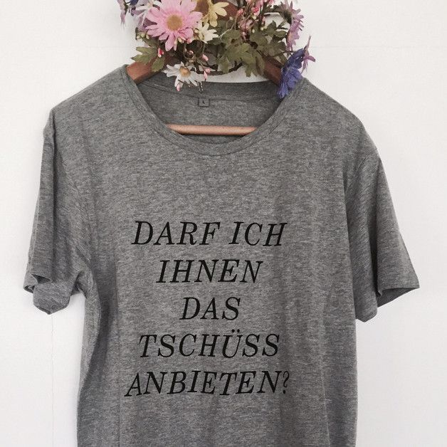 Fairtraide Mode: lässiges T-Shirt mit coolem Spruch, Sarkasmus lebt / fairtrade fashion: casual t-shirt with cool saying, sarcastic joke made by pension via DaWanda.com