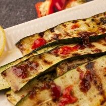 Courgettes in garlic chilli and lemon.