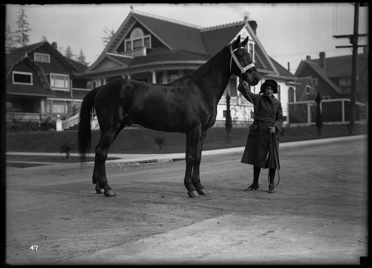 Mrs. W. S. Holland and Credential in the West End VPL Accession Number: 15064 Date: 192- Photographer/Studio: Rognon and Vinson Content: At the intersection of Comox and Chilco, looking northwest; the house behind her is 2005 Comox and the house to the left is 2033 The Hollands lived at 2070 Comox. http://www3.vpl.ca/spe/histphotos/