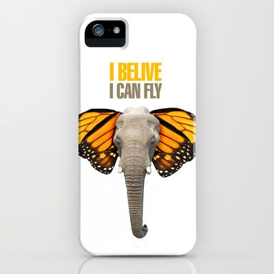 BUTTERFLY ELEPHANT iPhone & iPod Case by VINSPIRO - $35.00