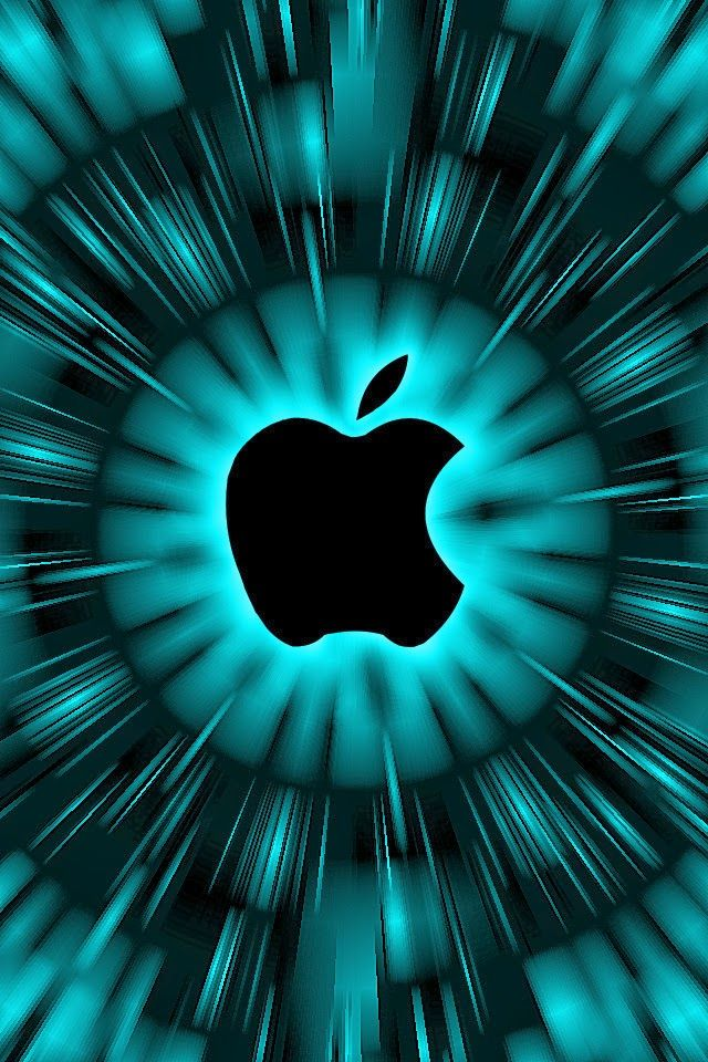 Cyan Apple Wallpaper - Bing images
