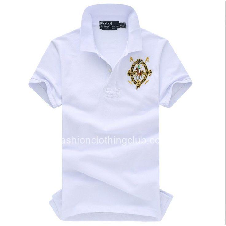 Mens White Ralph Lauren Polo Big Pony Shirts