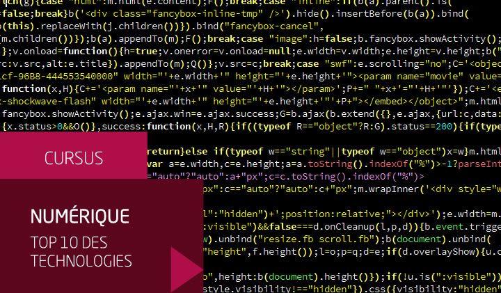 Numérique, le classement des langages de programmation les plus populaires
