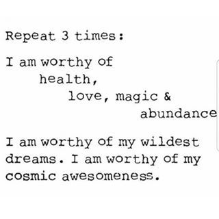 You are worthy of health, love, magic, and abundance! ☀️ . Repost via @ageintobeauty ✨ . . . . . #manifestation #manifest #intention #intentionsetting #magic #affirmation #gratitude #dailygratitude #happiness