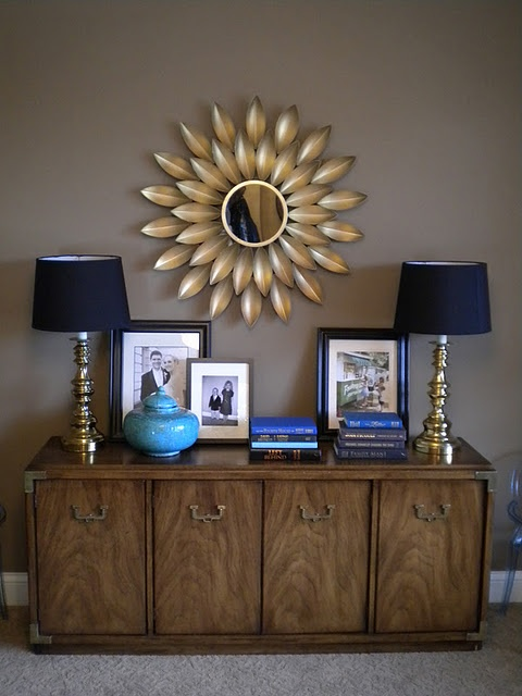 I want a sun burst mirror for me and franks bedroom something like this in a metallic color