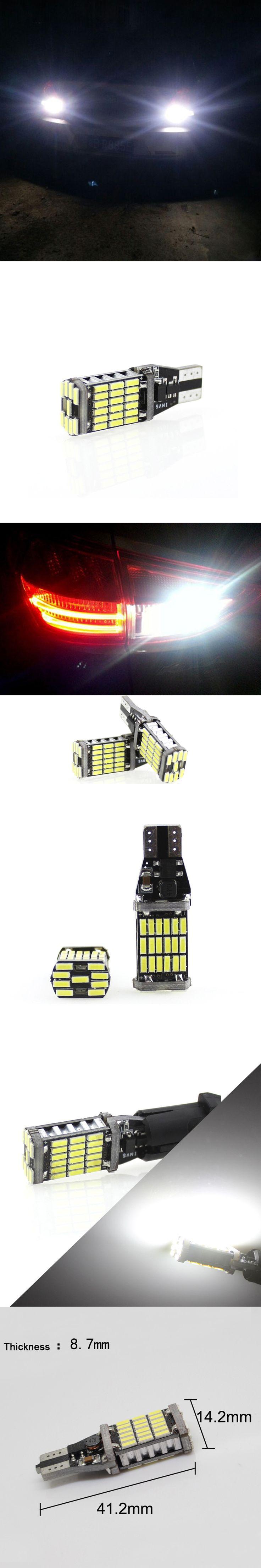 2pcs Canbus T15 921 15W 4014 SMD W16W 45 LED Auto Car Backup Light Reverse Lamp Bulb For Nissan Juke 2011 2012 2013 2014 2015