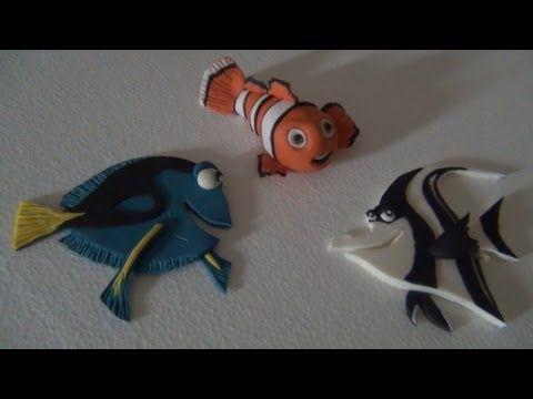 Tutorial Nemo and friends in sugar paste, Clownfish Nemo Toppers