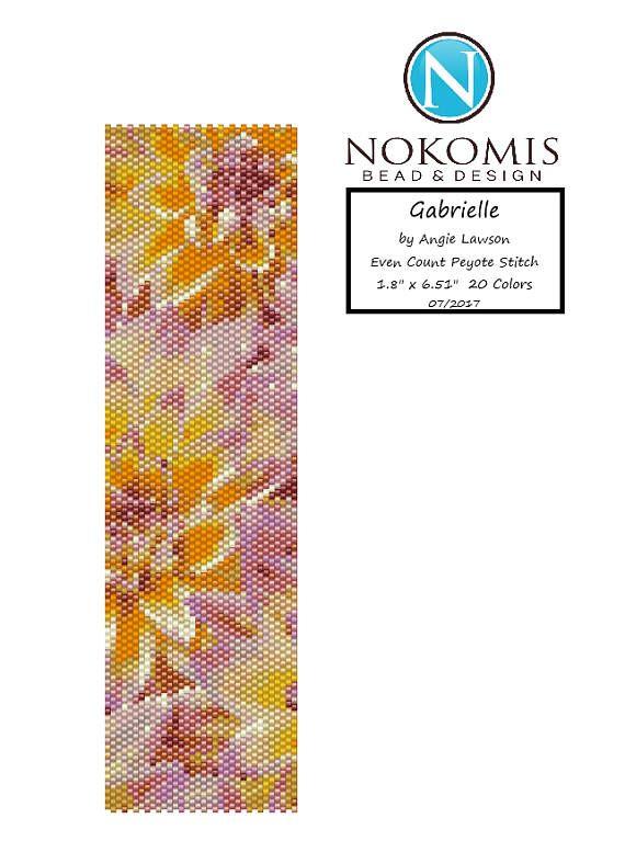 Even Count Peyote Stitch Bracelet Pattern Digital Download - Gabrielle