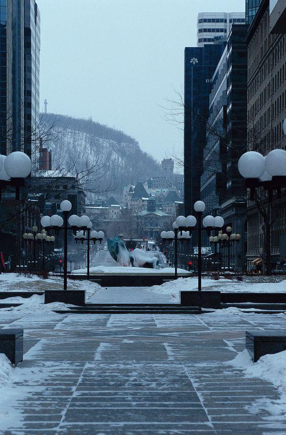L'hiver à Montréal : la neige est au rendez-vous ! [Canada]