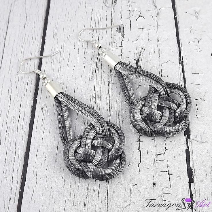 Grey earrings - perfect for elegant stylizations