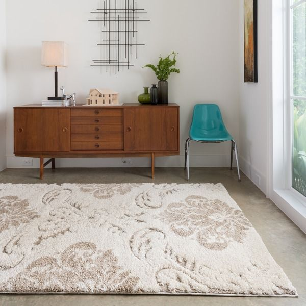 Jullian Ivory Shag Rug (7'7 x 10'6) - Overstock Shopping - Great Deals on Alexander Home 7x9 - 10x14 Rugs