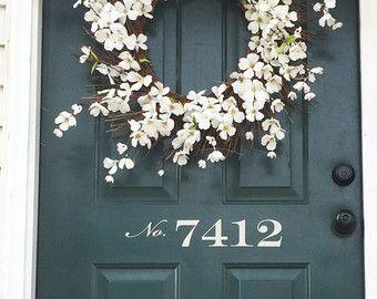 Front Door Number Vinyl Decal  Street Number  House Address