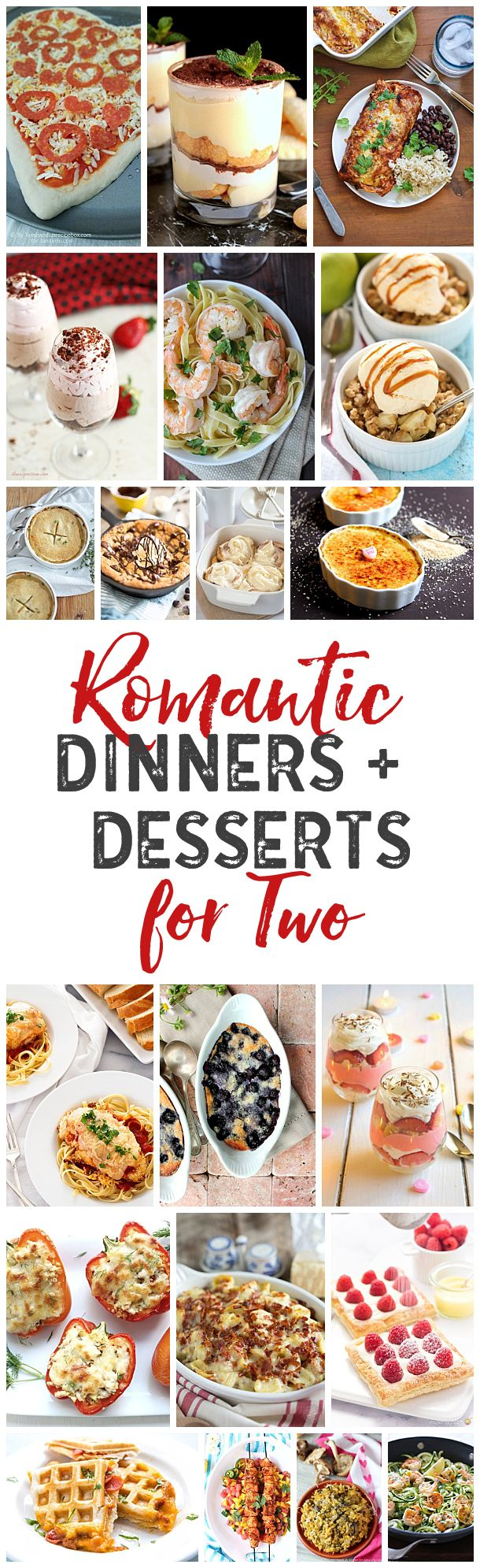 Lots of delicious dinner for two ideas for those special nights where you want to make a meal at home for your special someone. Plus dessert for two!