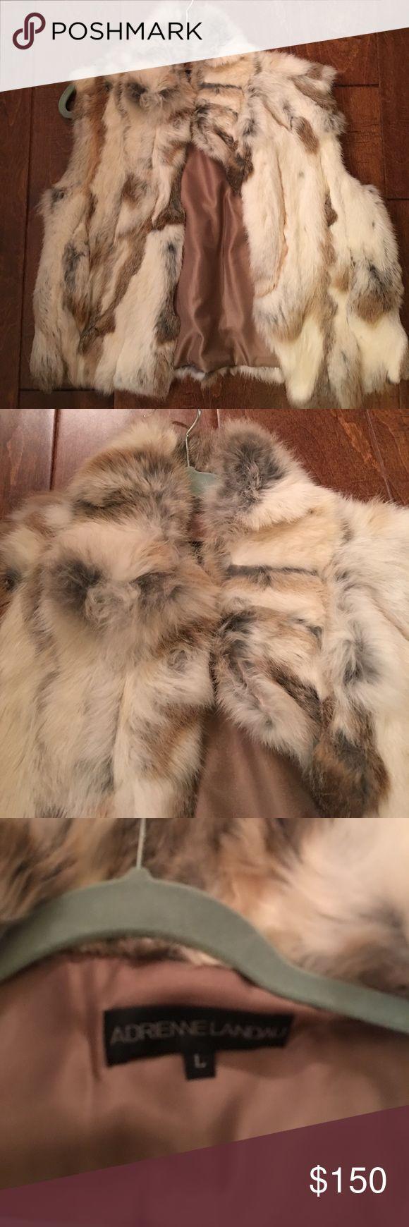 Adrienne Landau REAL fur vest - rabbit Adrienne Landau REAL fur vest - rabbit. Bought at Saks Off 5th. Great condition. Adrienne Landau Jackets & Coats Vests
