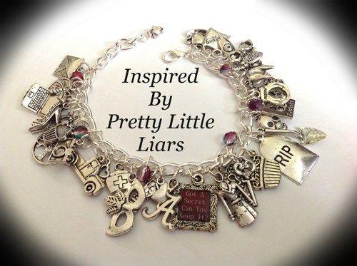 PRETTY LITTLE LIARS INSPIRED CHARM BRACELET | princessofscraps - Jewelry on ArtFire