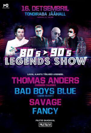 80's to 90's Legends Show  Tondiraban jäähallissa tarjoaa 16.12. aimo annoksen ysärinostalgiaa. 80- ja 90-luvuilla hittilistoilla vaikuttaneet artistit tekevät paluun Tallinnaan ja 2010-luvulle. Mukana ovat mm. Modern Talkingista tuttu Thomas Anders, Savage, Bad Boys Bluen riveissä vaikuttanut Herb McCoy sekä Fancy. #eckeröline #tallinna #badboysblue #thomasanders #savage #fancy