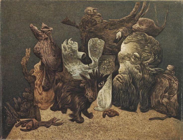 Richard Oelze, litógrafo y pintor alemán (1900-1980).