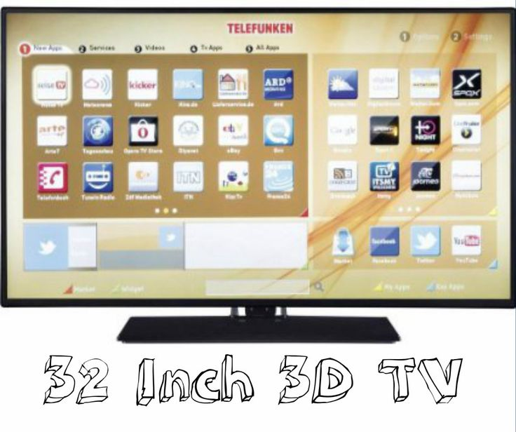 Shop online now for getting best deal on 32 inch 3D TV from top class brands. Price comparison feature helpful in choosing best device within financial budget.  Explore more options now www.3dtv-deals.org.uk/32-inch-3d-tv.html