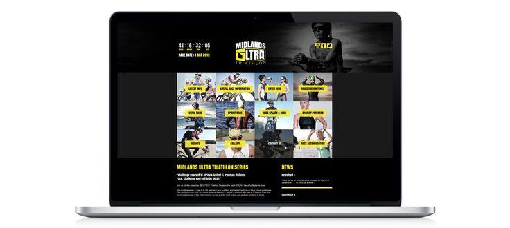 Midlands Ultra Triathlon: Responsive Website Design, Development and Management by Electrik Design Agency www.electrik.co.za