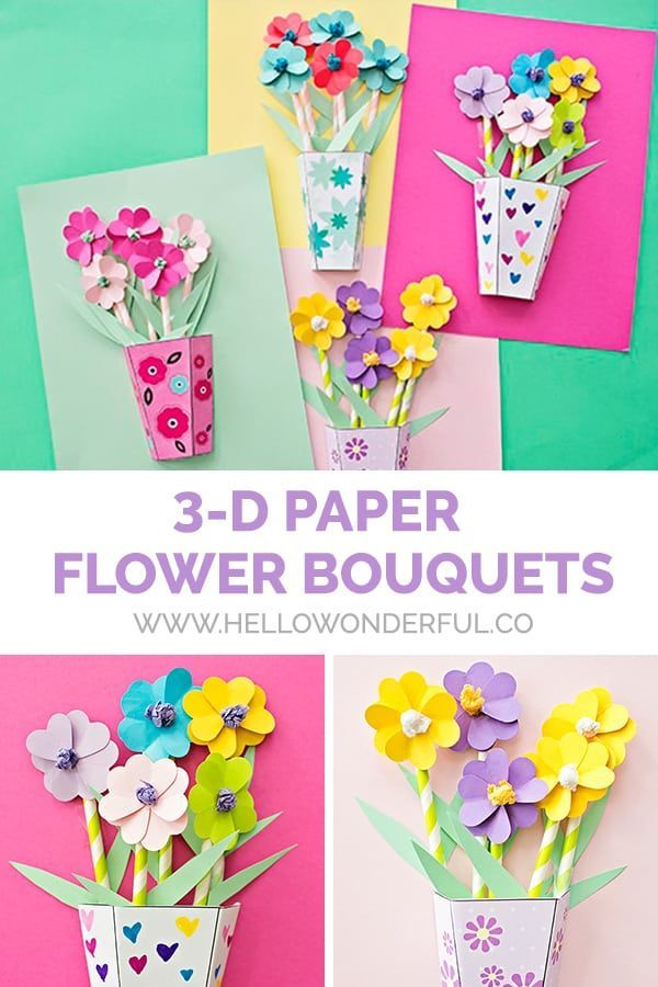 How To Make 3d Paper Flower Bouquets With Video Flower Crafts