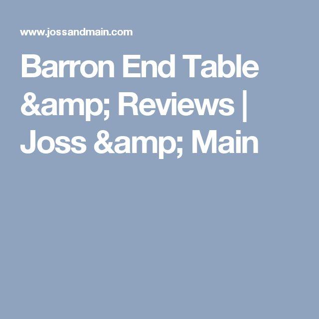 Barron End Table & Reviews   Joss & Main