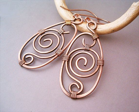 Hey, I found this really awesome Etsy listing at http://www.etsy.com/listing/162496473/wire-wrapped-earrings-old-looking-copper