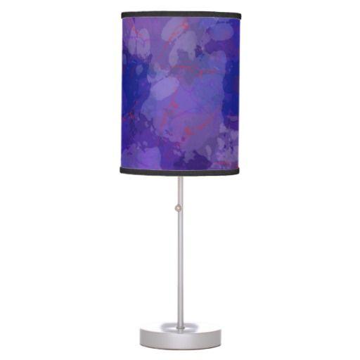 Purple Blizzard Desk Lamp