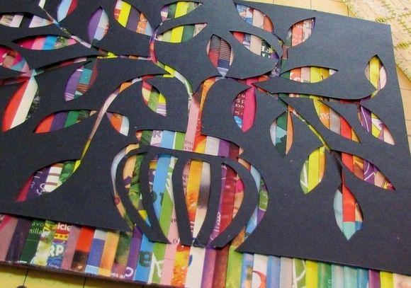 como-fazer-quadro-com-revistas-recicladas-3