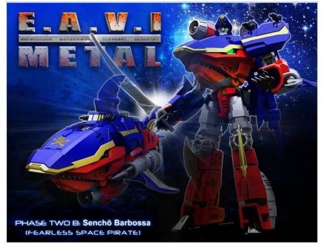 KFC - EAVI METAL Phase Two - Set of 3 - Sencho Barbossa Haiku And Tsunamiby KFC Keiths Fantasy Club #transformer