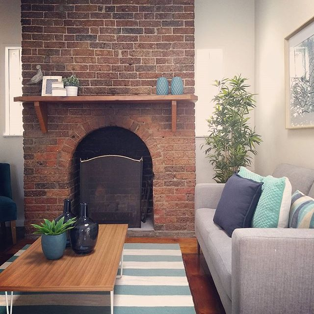 It was a pleasure to photograph this cute cottage in Petrie Terrace today. How good is the furniture styling?! #photosbyrealscope #fireplace #style #realestate #realestatephotography #brisbane