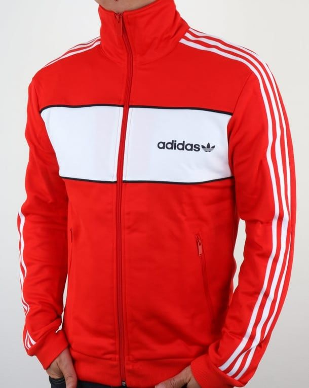 49c5e2fde Adidas Originals Block Track Top Core Red