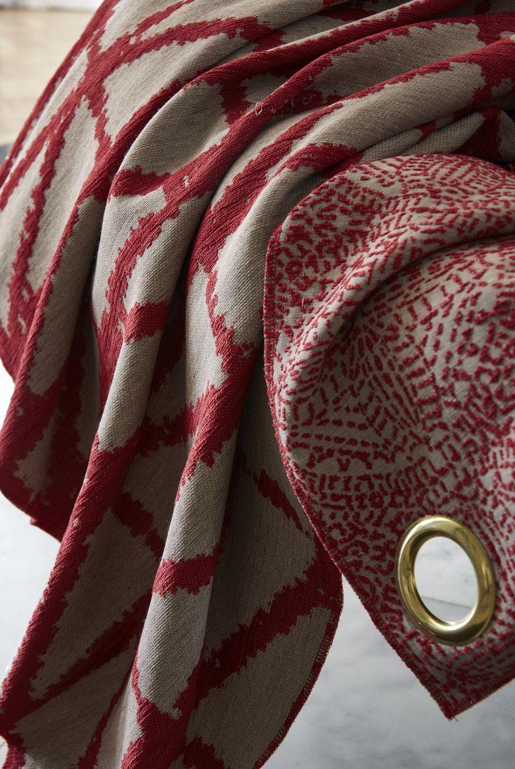 Focus sur les tissus Orya et Janero rouge - Collection Heytens