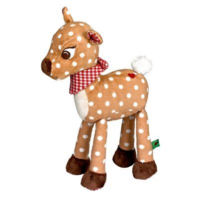 What a darling little plush rattle toy for any little one. From quality German toy company Spiegelburg, this sweet fawn is ready to be cuddled and played with. Measures approx 12cm x 20cm x 4cm