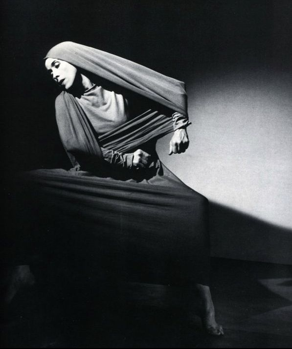"Barbara Morgan Martha Graham, c.1925 ""This is what I have always believed: We are all artists, and we have had this glorious capacity to create and to shape the world. Man looked around and could not fathom this place on which he had found himself, and so he named things, shaped things, began to understand limits and boundaries and goals. No one grows until a limit has been placed and a goal to move beyond it is allowed."" —Barbara Morgan"