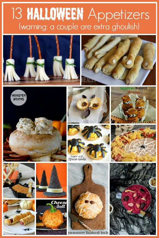 13 Halloween Appetizers -- some are extra ghoulish! #halloween