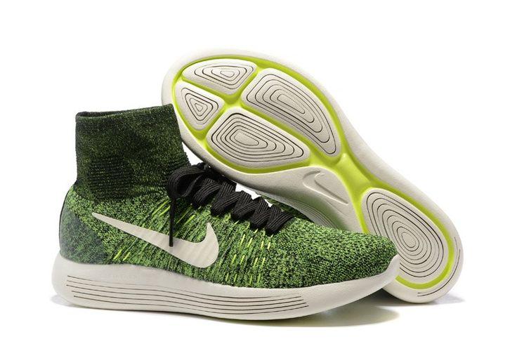 buy popular 76a14 87612 ... Nike LunarEpic Flyknit Men s Running Shoe - Green White   Fashion Style    Pinterest ...