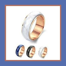 MiniBlue Korea Fashion Ring Size 6-9 US White These Womans Ceramic Wedding Rings are beautiful in their simplicity. Stainless Steel Jewelry does not tarnish and oxidize and is able to endure a lot of wear and tear. http://theceramicchefknives.com/womans-ceramic-wedding-rings/ MiniBlue Korea Fashion Ring Size 6-9 US White