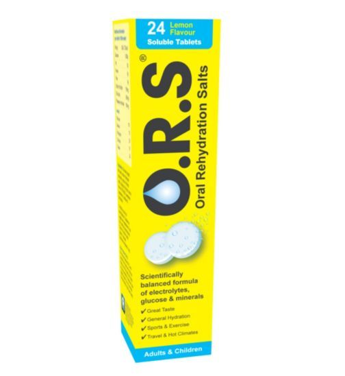 Oral Rehydration Salts | Lemon Flavour | Soluble Tablets - Boots