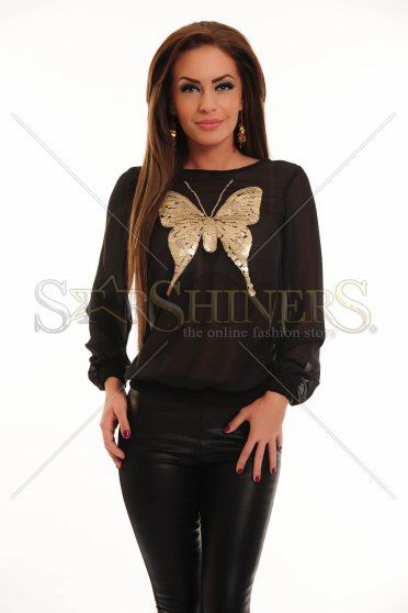 Bluza LaDonna Cute Butterfly Black