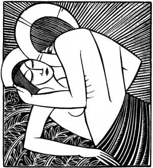 Stay me with apples 1925 Eric Gill