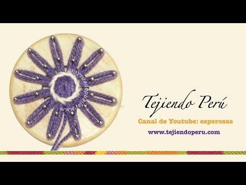 Flores tejidas en telar de reloj (redondo): técnica básica - YouTube